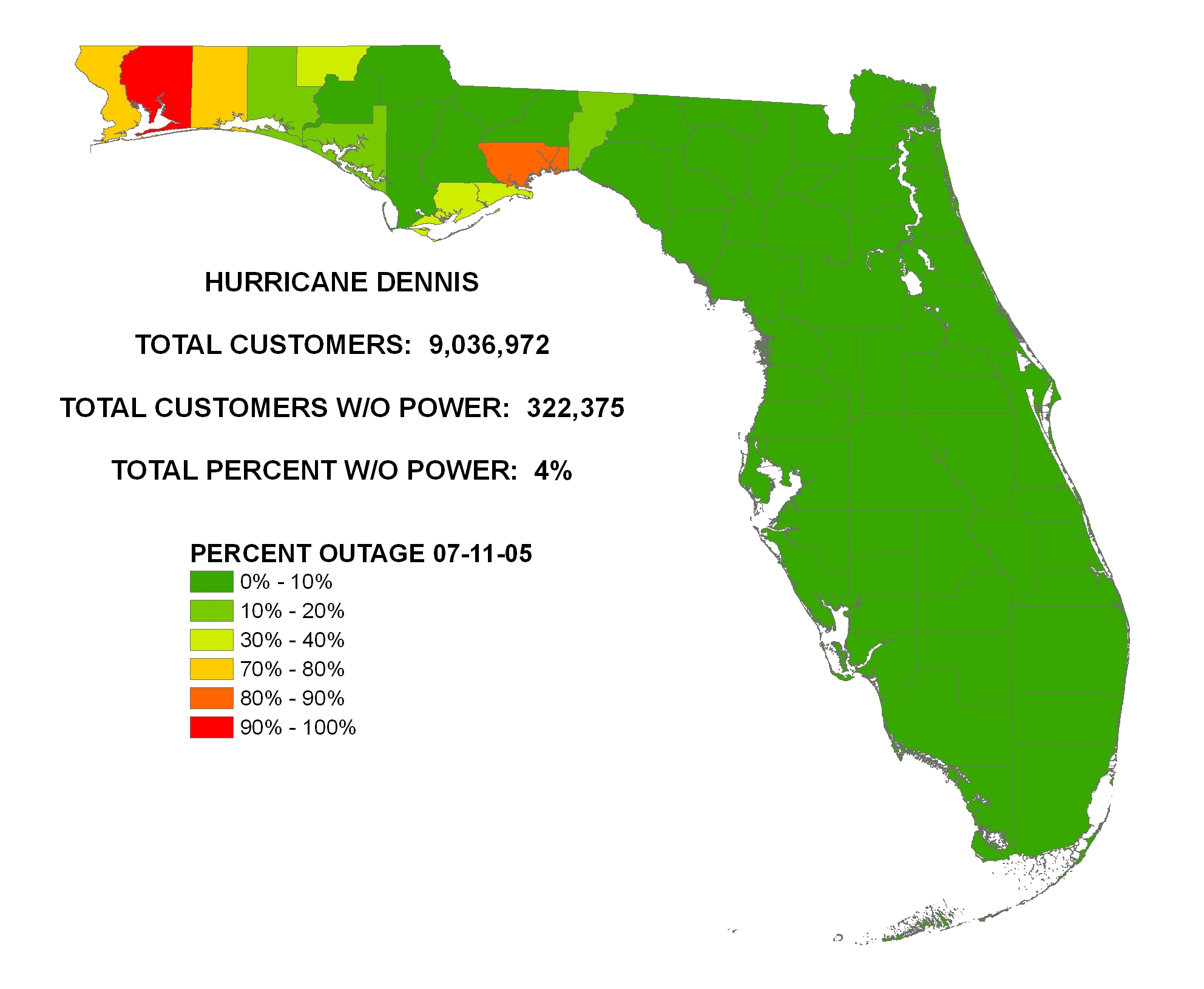 ... July 11, 2005 U2013 Florida Power Outage